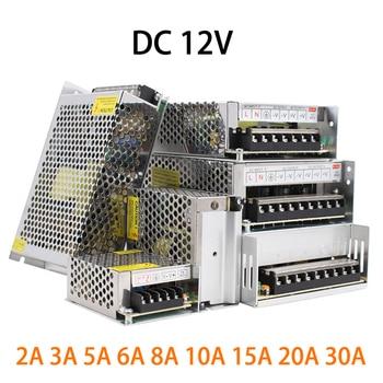 Power Supply 12 Volt 1A 2A 3A 5A 10A 12A 15A 20A 30A 40A 50A LED Driver Transformer 220V to 12V Power Adapter smps For LED cctv 12v 24v 48v volt power supply 1a 2a 3a 5a 6a 8a 10a 12a 15a 20a 30a 33a 40a transformer 220v to 12v 24v 48v power supply smps