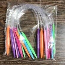 12 шт. спицы для вязания набор инструментов для шитья свитера аксессуары для пряжи двойной заостренный ручной работы разноцветные трубки крючком круговой крючок