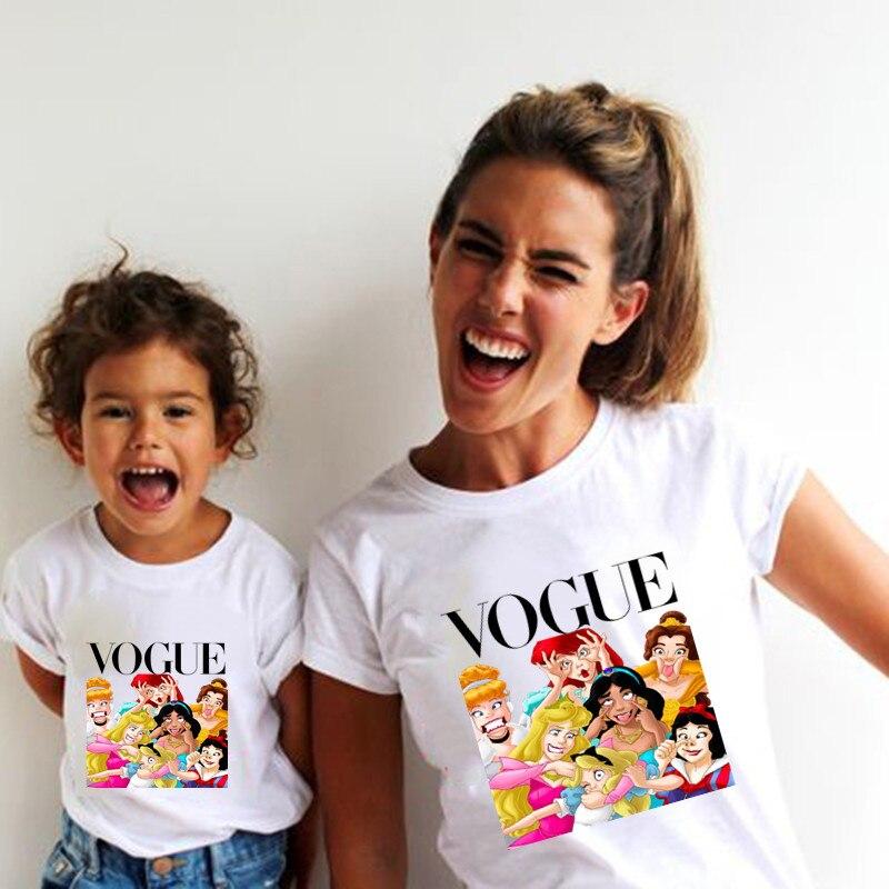 Новая семейная футболка с принтом Одежда «Мама и я» Семейные комплекты с короткими рукавами QT-1924 - Цвет: Серебристый