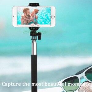 Image 2 - Roreta 3 w 1 bezprzewodowy kijek do selfie Bluetooth z lustrem składany Mini statyw rozszerzalny monopod z pilotem Bluetooth