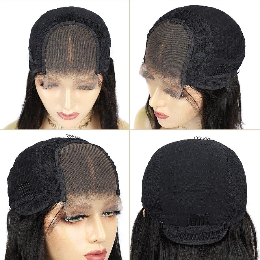 Pixie cut lace front wigs pré-arrancado blunt