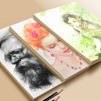 Drawing Papers Watercolor Gouache and Sketching Papers Student Painting Book Artist Drawing and Sketching Paper Artist Painting