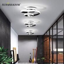 Белый черный из светодиодов люстра освещение крытый свет Fxitures 18Вт Современный Для гостиной спальня столовая коридор