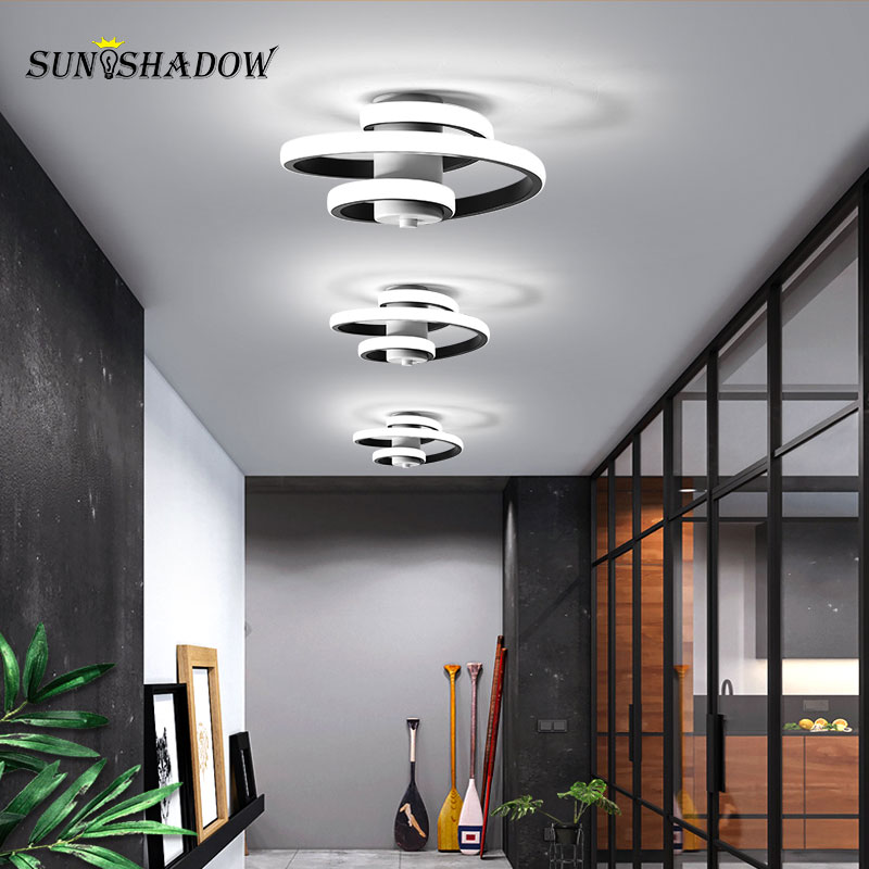 White Black Led Chandelier Lighting Indoor Light Fxitures 18W Modern Led Chandelier For Living room Bedroom Dining room Corridor