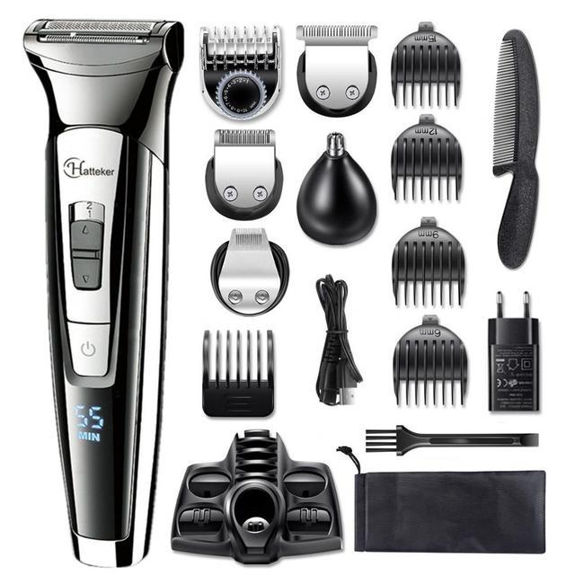 Facial body electric shaver grooming kit hair shaver for men beard wet dry shaving machine all in one electric razor 100v-240v 1