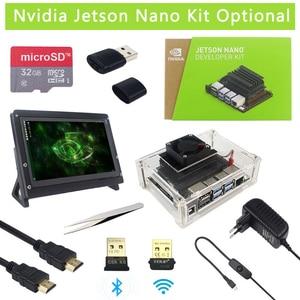 Original Nvidia Jetson Nano Development Kit + Case + Power Adapter Optional | SD Card | 8MP Camera |7 inch LCD | WiFi Adapter(China)