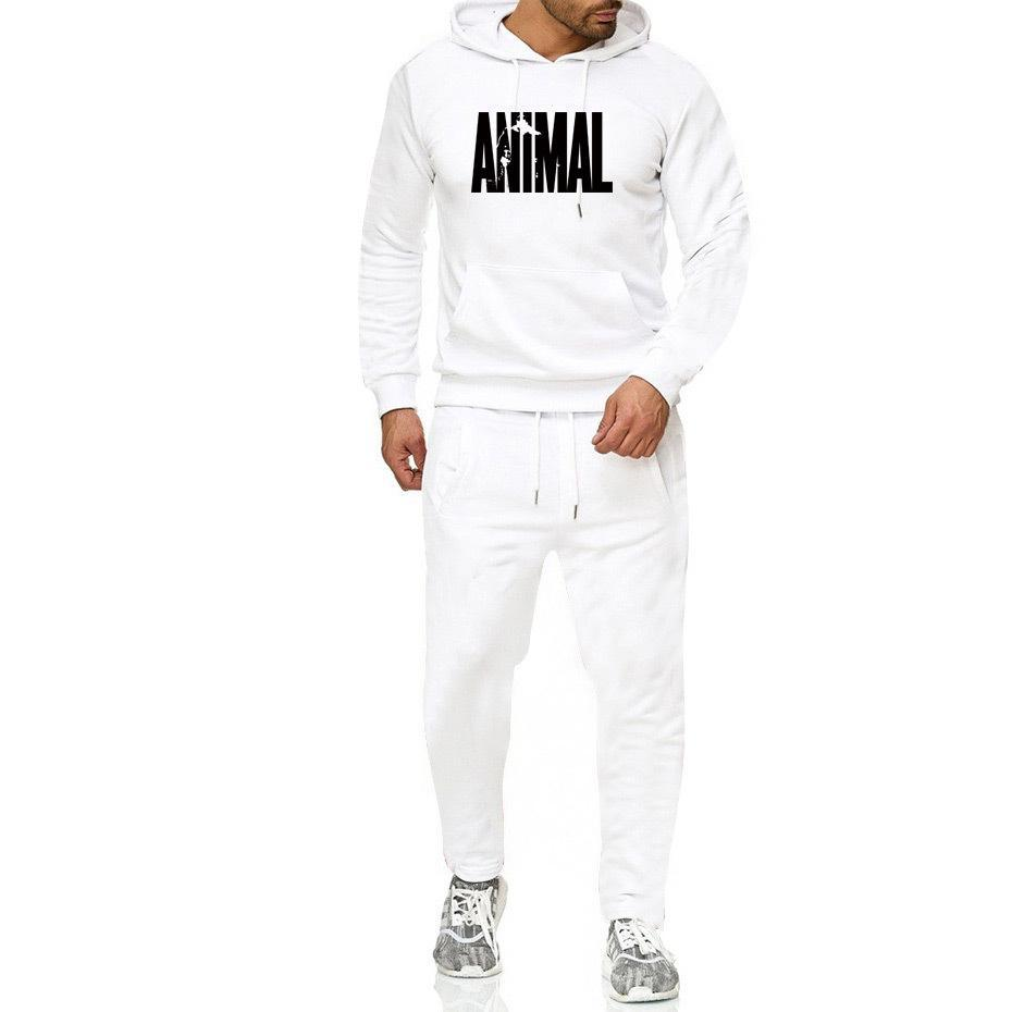 Men Hip -Hop Hoodie Printing Casual Men 'S Fall And Winter Thick Sweater Suit Hoodie +Pant Home Set 1