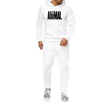 Men Hip -Hop Hoodie Printing Casual Men 'S Fall And Winter Thick Sweater Suit Hoodie +Pant Home Set men cut and sew panel hoodie