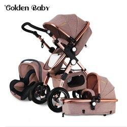 Golden baby/goldbaby carrinho de bebê 2 em 1 3 em 1 choque dobrado dobrável bebê recém-nascido trole rússia frete grátis