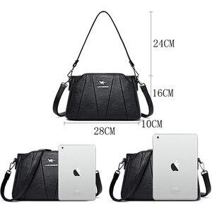 Image 4 - Crossbody Bags For Women 2019 Sac a Main Soft Leather Shoulder Messenger Bags Female Vintage Handbag High Quality Bolsa Feminina
