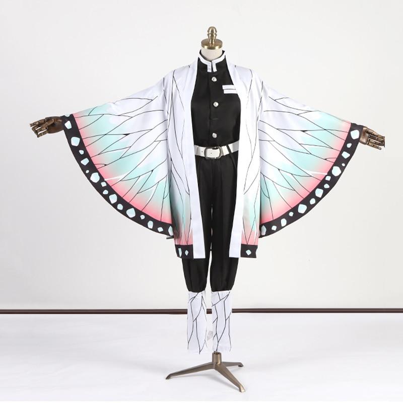 Demon Slayer Kochou Shinobu Cosplay Costumes Women Haori Uniform Cloak Halloween