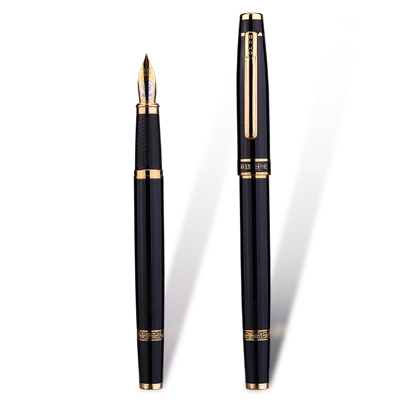 HERO Fountain Pen F 0.5mm Student Writing Ink Pens M 0.8mm Calligraphy Parallel Art Pen Business Office Signature Pens Iraurita