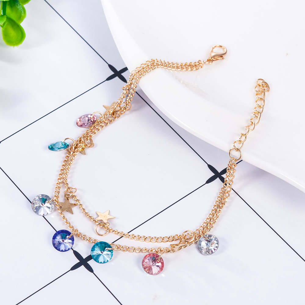Modern Simple Multi-layer Star Anklets Set For Women Vintage Handmade Anklet Bracelet on Leg Beach Party Ocean Jewelry 2019 1