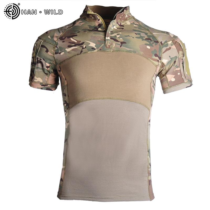 Military Army T-Shirt Men Short Sleeve Camouflage Tactical Shirt Hunt Combat Multicam Camo Short Sleeve T Shirt