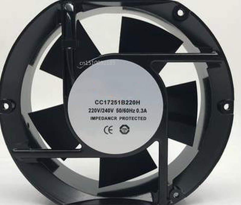 For CC17251B220H 220V 172 * 150 * 51 Mm Ball Wire Cooling Fan, Dedicated To Inverter Free Shipping