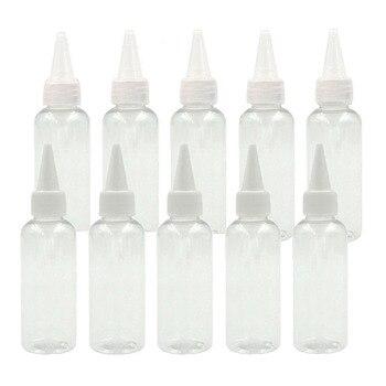 30Pcs / Pack 50ml PET Clear Plastic Dropper Bottle, Empty Liquid Eye Water Bottle, with Long Tip Cap Refillable Pen Container недорого