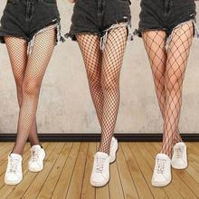 Festa oco para fora sexy meia-calça feminina malha preta mulheres meias meia fina fishnet meias clube festa hosiery