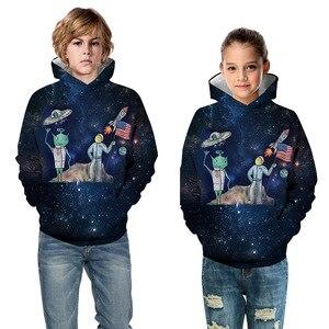 Image 3 - Толстовка Alien Rockets для мальчиков и девочек 10 12 лет, Детская толстовка с 3D принтом, Подростковая Спортивная одежда на весну и осень, детская одежда