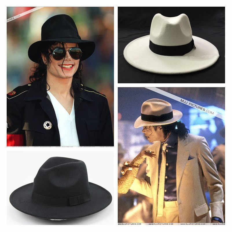 Superster Michael Jackson Cosplay Hoeden Katoen Demo Caps Gentleman Formele Hoed Party Halloween Dansvoorstelling Cap Geschenken Speelgoed