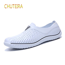New mens sandals garden shoes summer high quality breathable clog lightweight large size