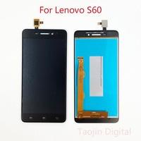 Dla Lenovo S60 S60W S60T S60A S60 a z ekranem dotykowym Digitizer czujnik szkło + monitor LCD montaż z ramą + darmowe narzędzia w Ekrany LCD do tel. komórkowych od Telefony komórkowe i telekomunikacja na