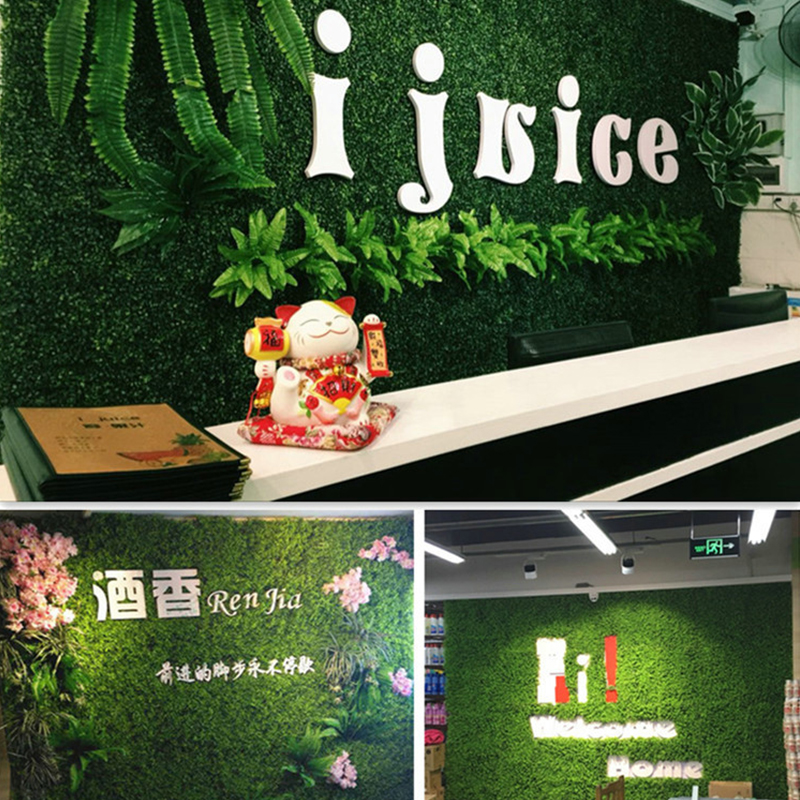 40x60cm Artificial Green Plant Lawns Carpet for Home Garden Wall Landscaping Green Plastic Lawn Door Shop Backdrop Image Grass-5