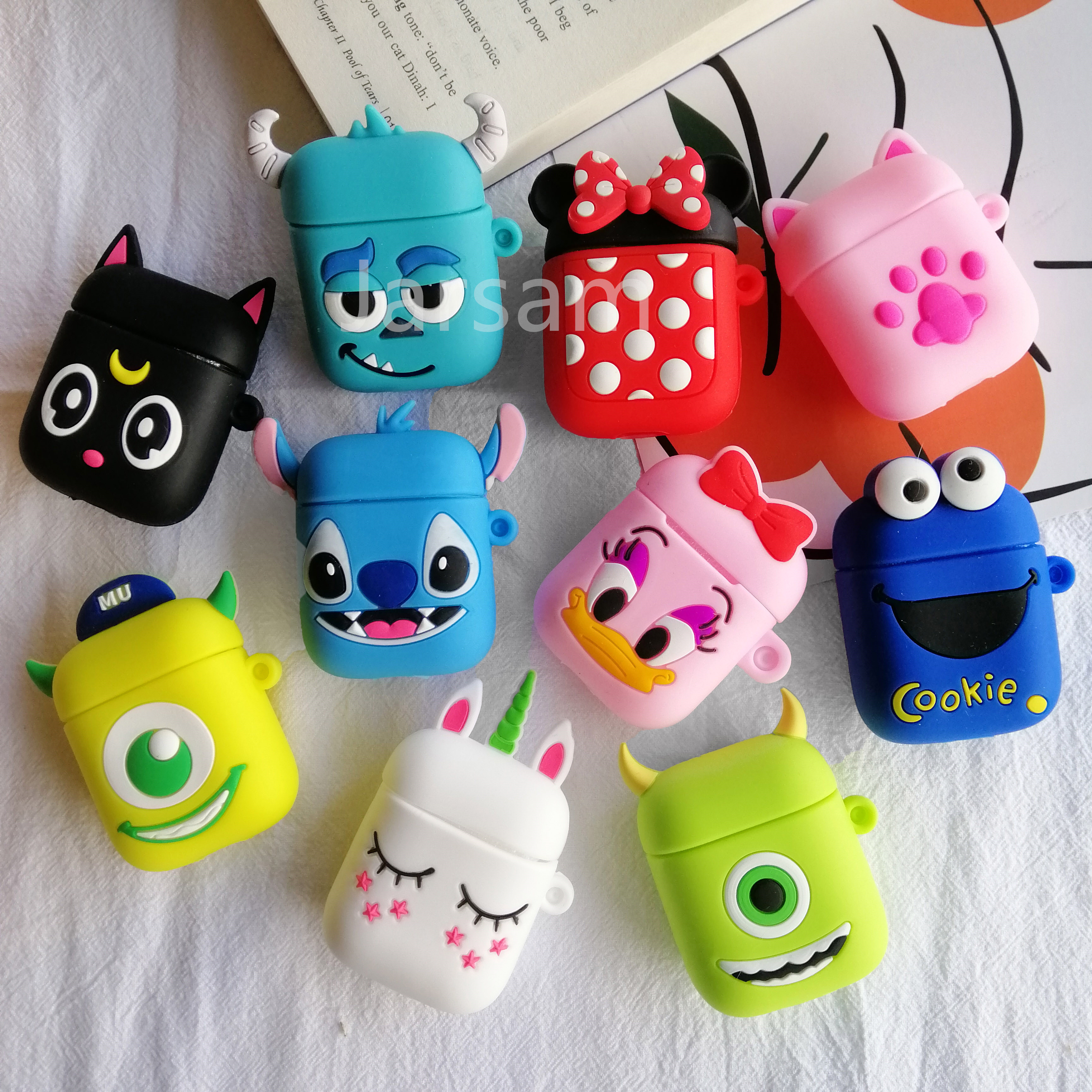 Best Sale 1f62 For Airpods 2 Case Silicone Stitch Cartoon Cover
