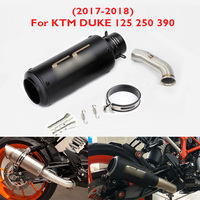 Slip on Duke 125 250 390 RC390 Motorcycle Exhaust Tip Muffler Mid Connect Link Pipe for KTM Duke 125 250 390 RC390 2017 2018