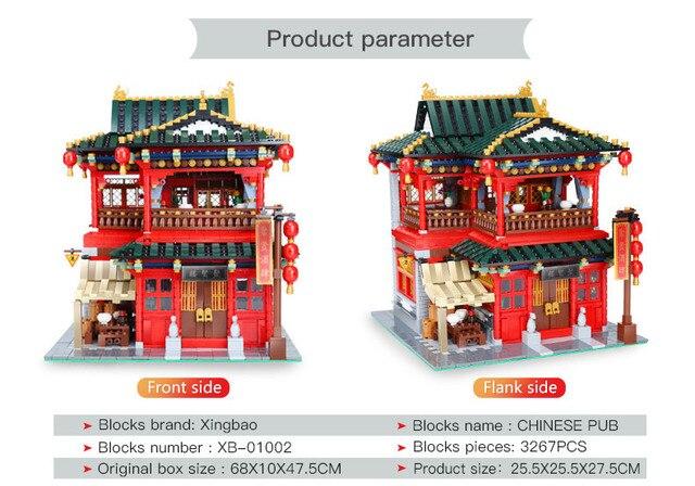 Фото 3267 шт moc креативные китайские строительные блоки для ресторана цена