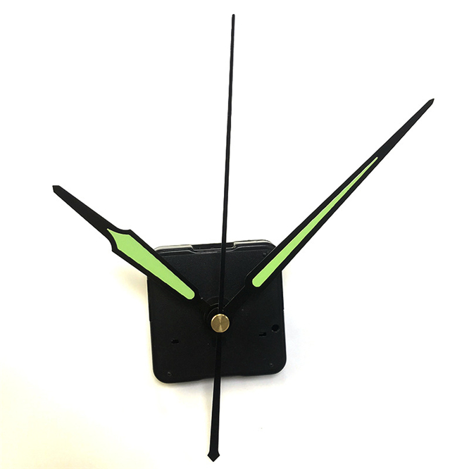 100sets Silent 13mm Shaft Sweep Clockwork Wall Clock Mechanism Mechanism Quartz Machine Clockwork DIY With Luminous Clock Arms