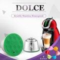 Кофейная капсула многоразового использования из нержавеющей стали фильтр для кофе многоразовый кофе капсула сделать для dolce&gusto пластикова...