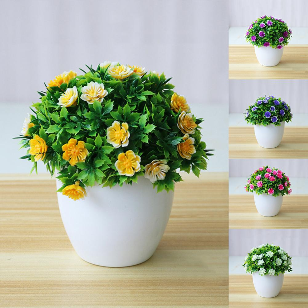 1Pc Potted Artificial Flower Bonsai Stage Garden Wedding Home Party Decor Props Beautiful Non-fading