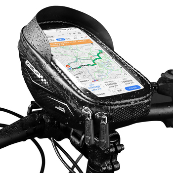 Bicycle Handlebar Bag Rainproof 5.8/6.0 Inch Phone Case Touch Screen Bike Bag Cycling Front Top Tube Bag Mtb Accessories cbr outdoor cycling bike touch screen top tube bag black grey