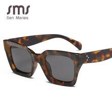 New Fashion Rectangle Sunglasses Women Luxulry Brand Designe