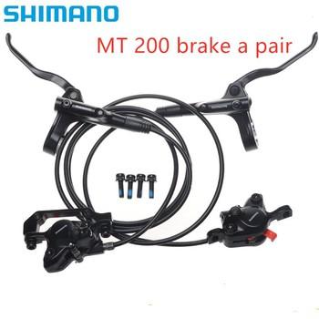 Shimano MT200 hamulec rowerowy rower mtb hydrauliczny hamulec tarczowy górski hamulec motocyklowy aktualizacja z hamulca M315 tanie i dobre opinie MT200 (New M315) Hydraulic Disc Brake (Hydraulic Brake Pad) front 750 mm rear 1400mm about 630g