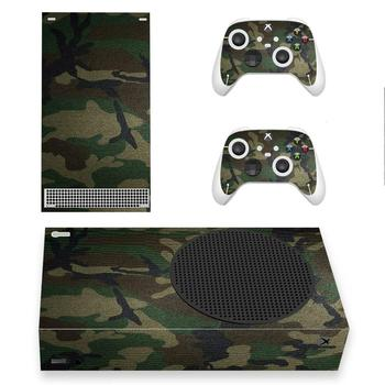 Camo Color Skin Sticker Decal Cover for Xbox Series S Console and 2 Controllers Xbox Series Slim Skin Sticker Vinyl 1