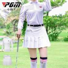 Women Golf Skirts Sports Clothes Suits Ladies Stand Collar Shirts Short Skirt Golf Ladies High Elastic Pleated Skirt Sets D0495