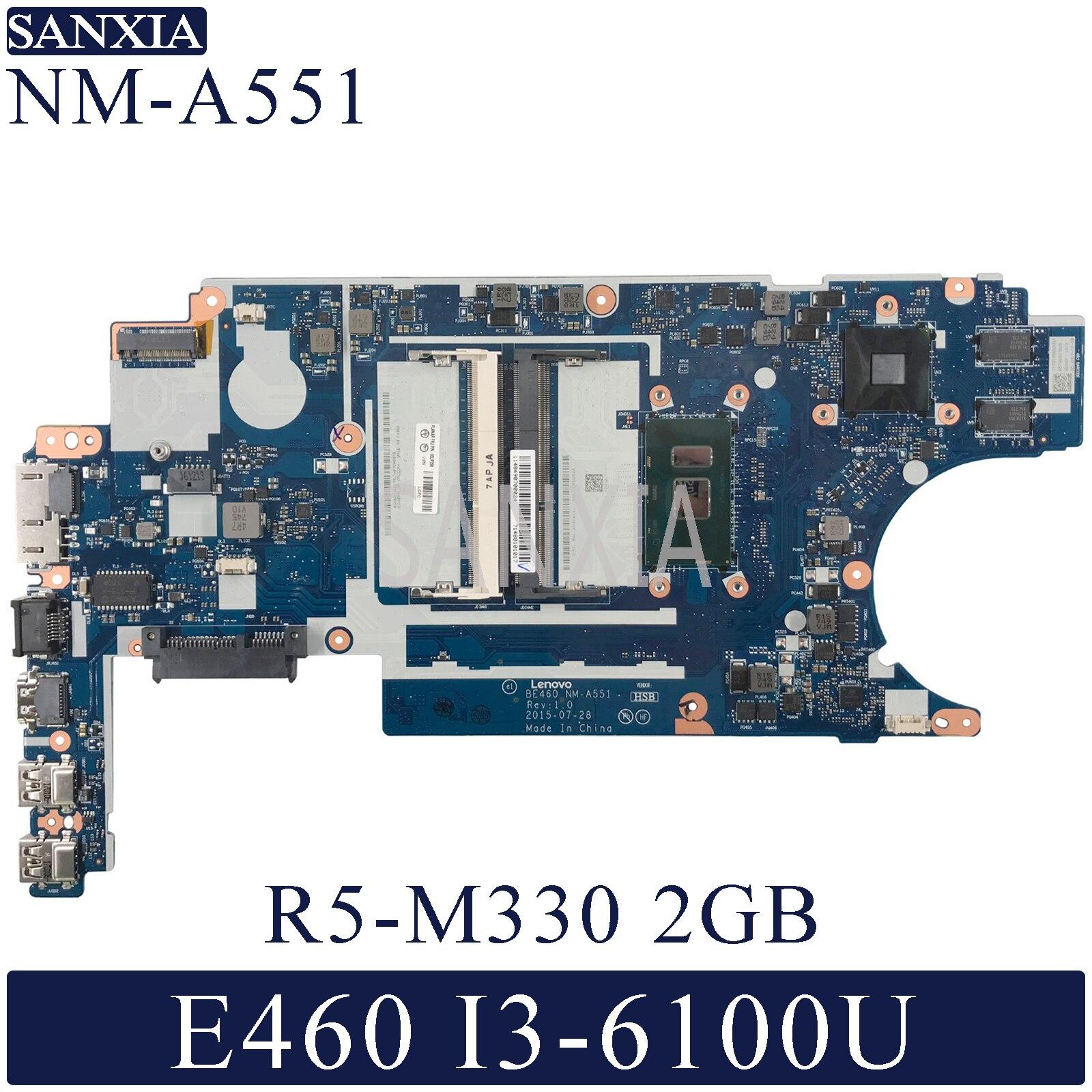 KEFU NM-A551 Laptop Motherboard For Lenovo Thinkpad E460 Original Mainboard I3-6100U R5-M330 2GB