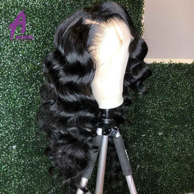 13x4 Loose Wave Lace Front Human Hair Wig 150 180 200% Brazilian Hair Lace Front Wig Preplucked Natural Hairline Alimice Remy (3)