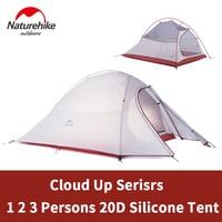 Naturehike Cloud Up 1 2 3 Person Ultralight Camping Tent Outdoor Camp Equipment 2 Man Travel 4 Seasons Tourist Tent with Mat
