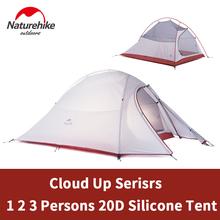 Naturehike Cloud Up 1 2 3 osoba Ultralight namiot kempingowy sprzęt kempingowy na zewnątrz 2 człowiek podróż 4 sezony namiot turystyczny z matą tanie tanio Aluminium Budowa w oparciu o potrzeby 1-2 osoby namiot DOUBLE 3000mm NYLON OUTDOOR Jeden sypialni Cztery sezon namiot
