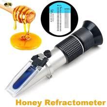 Refraktometer Honig Tester 58-90% Brix 38-43 ° Baume 12-27% wasser Für Imker bee Honig refraktometer Zucker Meter refactometer