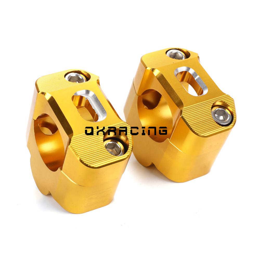 KKOYYRZ Motocicleta 1 1//8CNC Aluminio Manillar elevadores 28 mm Abrazaderas de Barra de Grasa Ajustables Universal Color : Gold