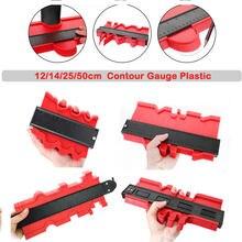 Novo calibre de contorno cópia de plástico forma contorno medidor duplicador padrão madeira marcação ferramentas piso #1