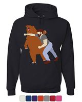 Bear Fighter Hoodie Funny Beard Badass Drinking Beer Bar Brawl Sweatshirt