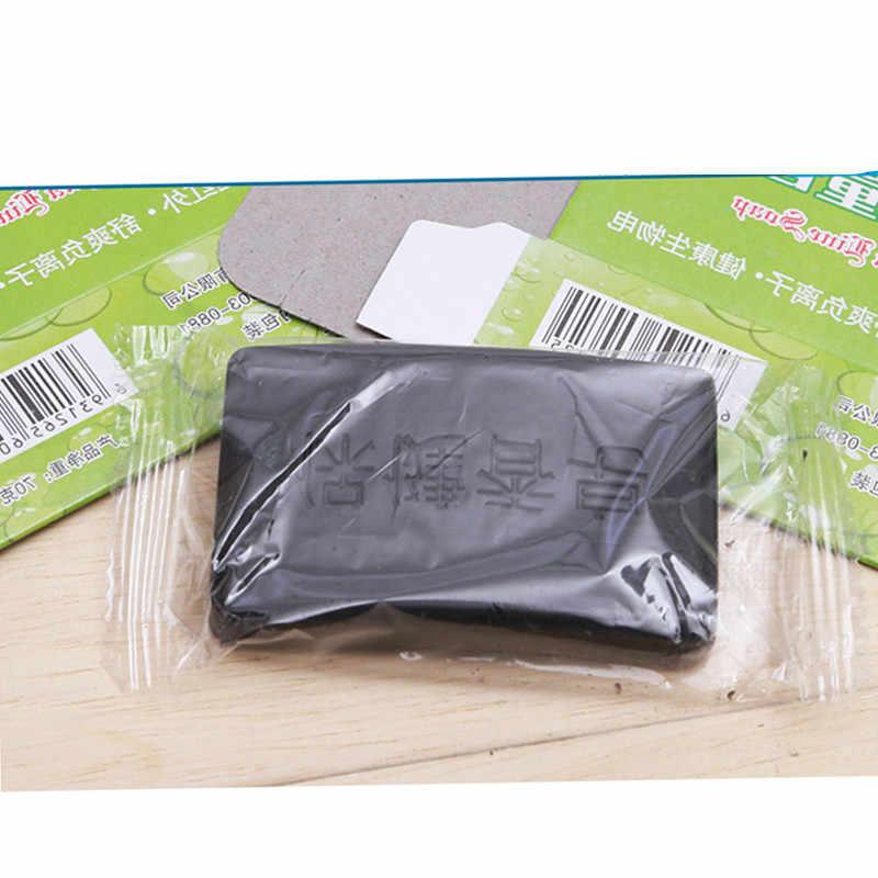 Jabón para eliminar acné y carbón vegetal bambú negro jabón para blanquear carbón cara cuerpo transparente antibacteriano turmalina