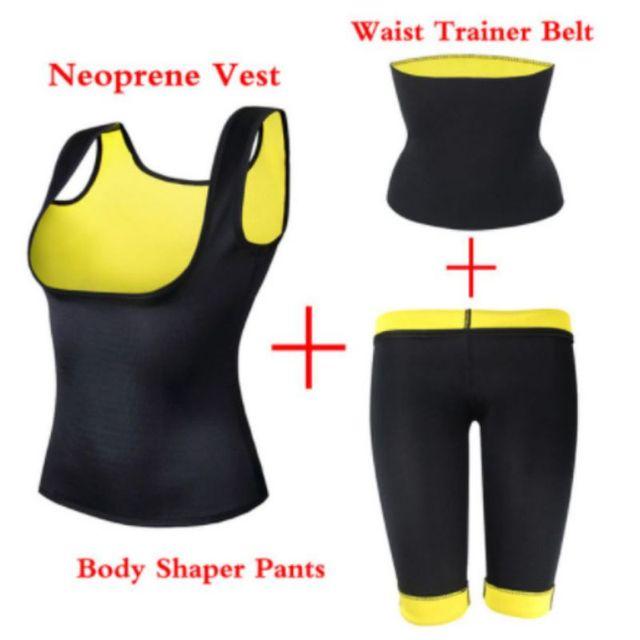 Women Slimming Vest Neoprene Shaper Sports Suit Pants Belt Half Vest Sweat-burning Fat-sculpting Body Shaper Yoga Corset 4