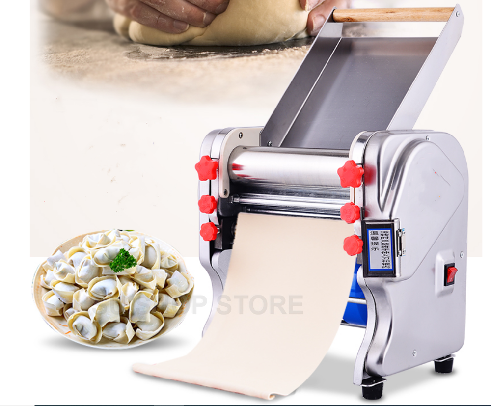 220V New Electric Dough Roller Stainless Steel Dough Sheeter Noodle Pasta Dumpling Maker Machine 220V Roller And Blade Changable