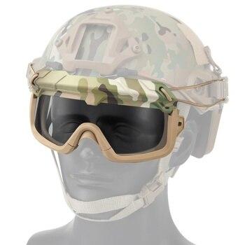 Высокое качество военный страйкбол тактические очки стрельба очки черный 3 линзы мотоцикл ветрозащитный Wargame очки