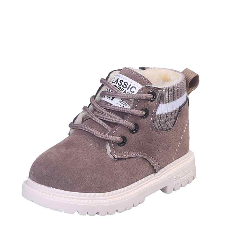 Thời Trang Trẻ Em Giày Bé Trai Bé Gái Giày Bốt Martin Trẻ Em Chạy Bộ Trẻ Em Thương Hiệu Thể Thao Trắng Giày Trẻ Em Vỏ Giày